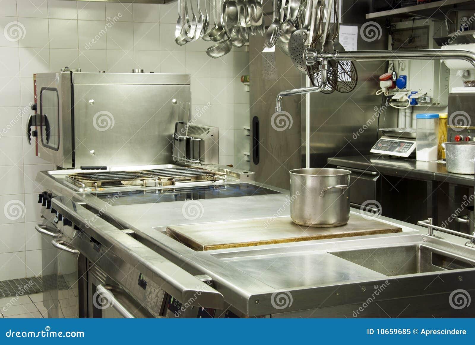 Modern hotel kitchen