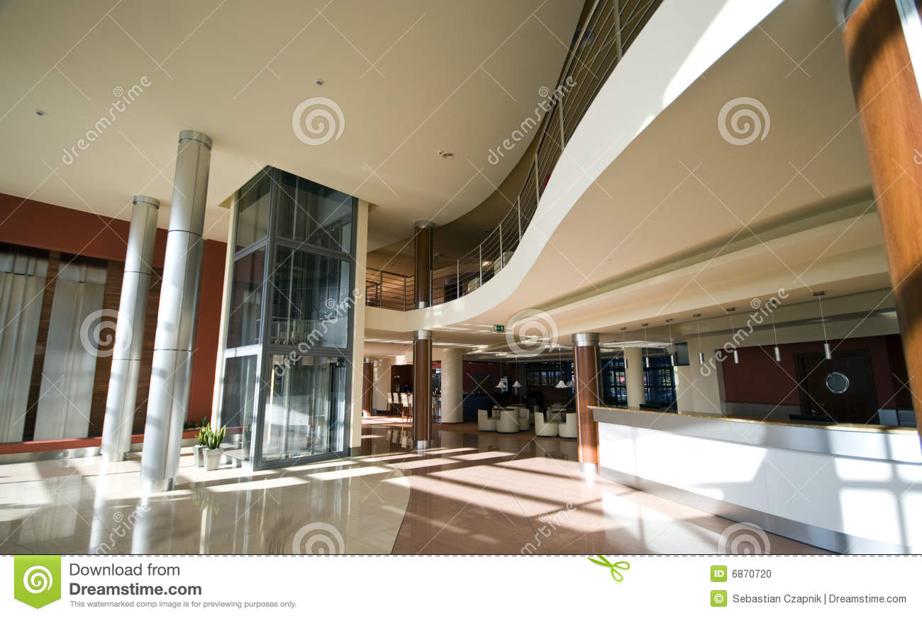 Modern hotel lobby stock photo. image of hotel hallway 6870720