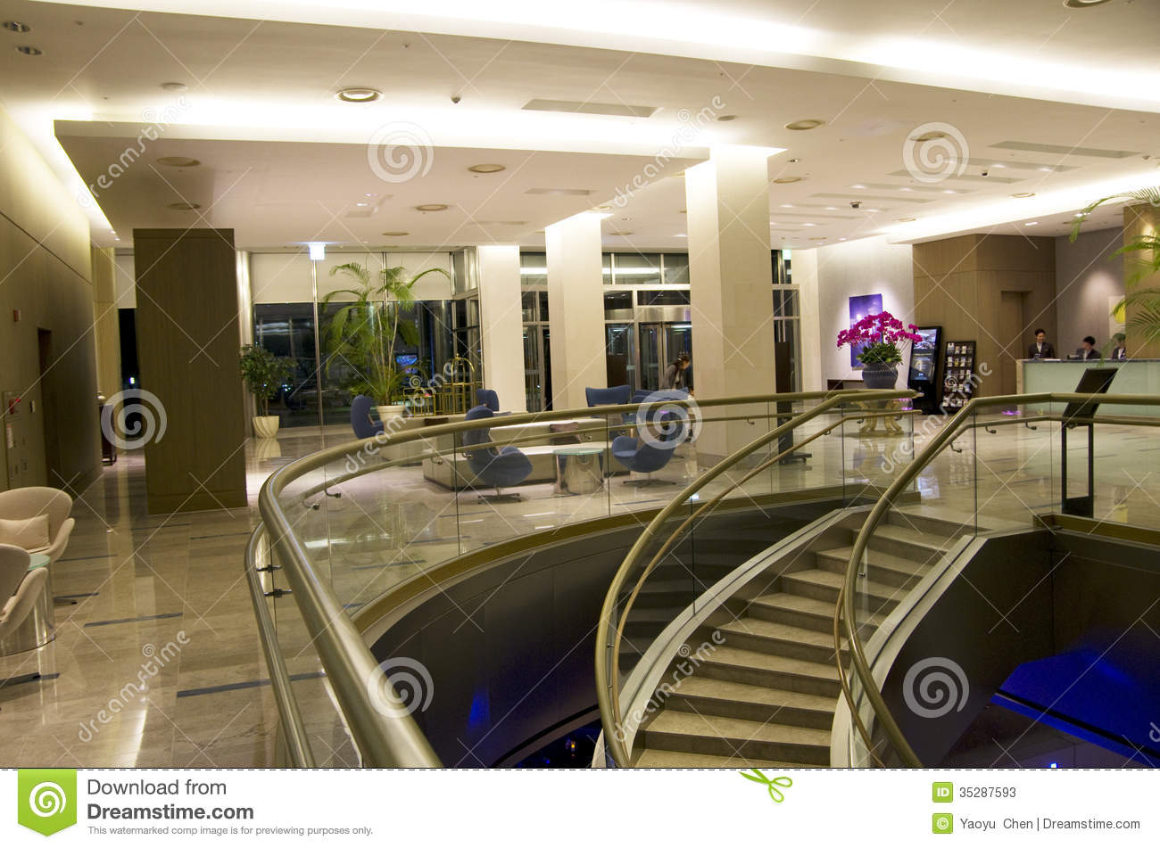 Modern Hotel Lobby Furniture Editorial Stock Photo Image
