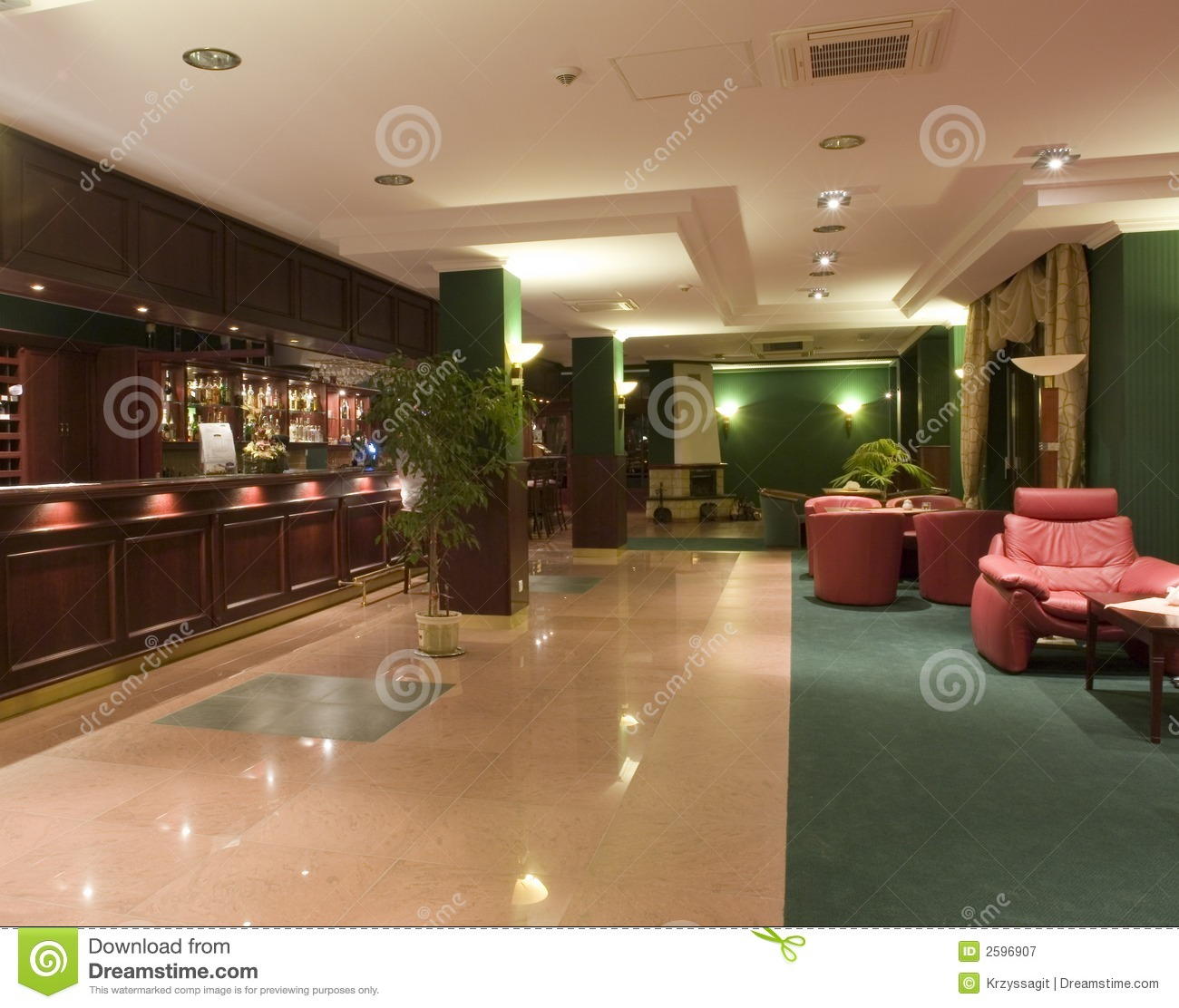 Modern hotel lobby interior royalty free stock photography for Modern hotel