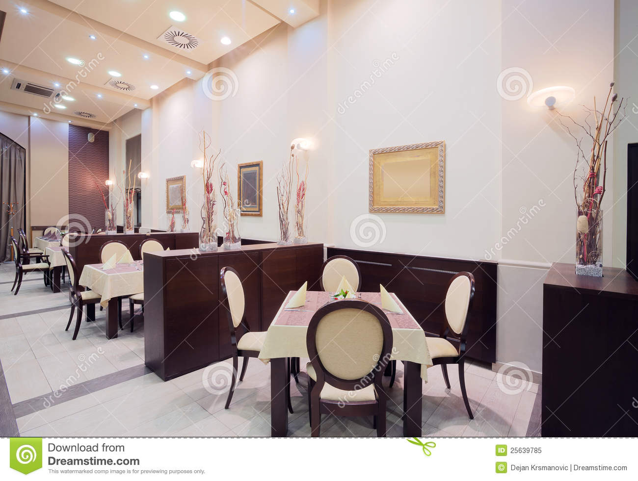 modern hotel restaurant interior royalty free stock images - image