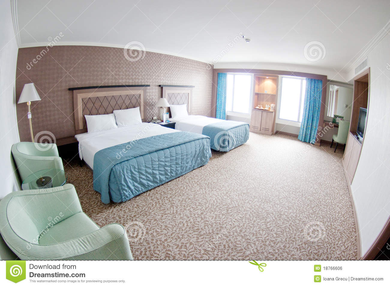 Modern Hotel Room modern hotel room royalty free stock photo - image: 35091015