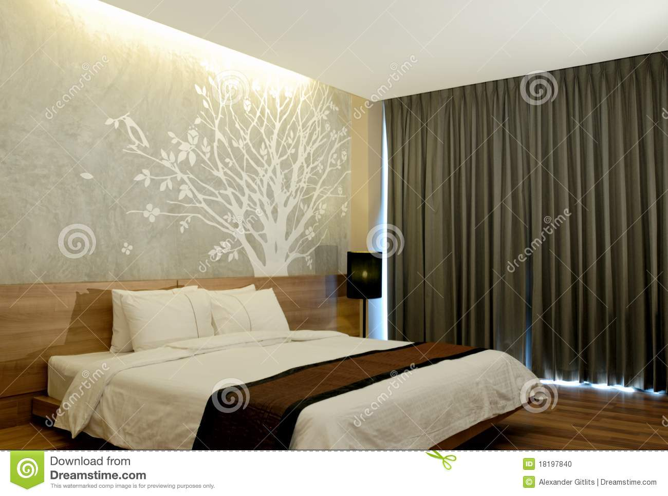 Modern hotel room interior stock photo image 18197840 - Hotel Interior Modern Night Room