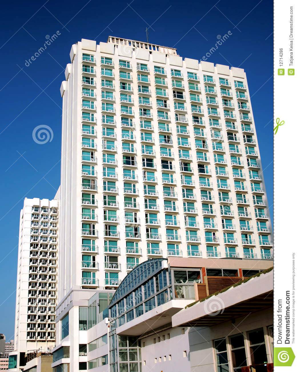 Modern hotel in tel aviv royalty free stock image image for Design hotel tel aviv