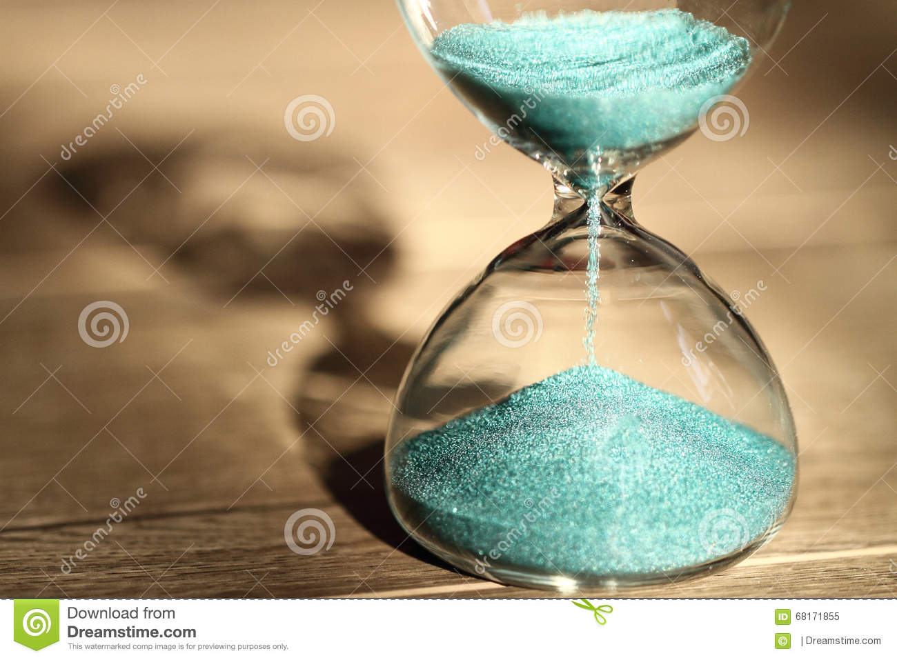 Modern Hourglass Symbol Of Time Countdown Stock Image Image Of