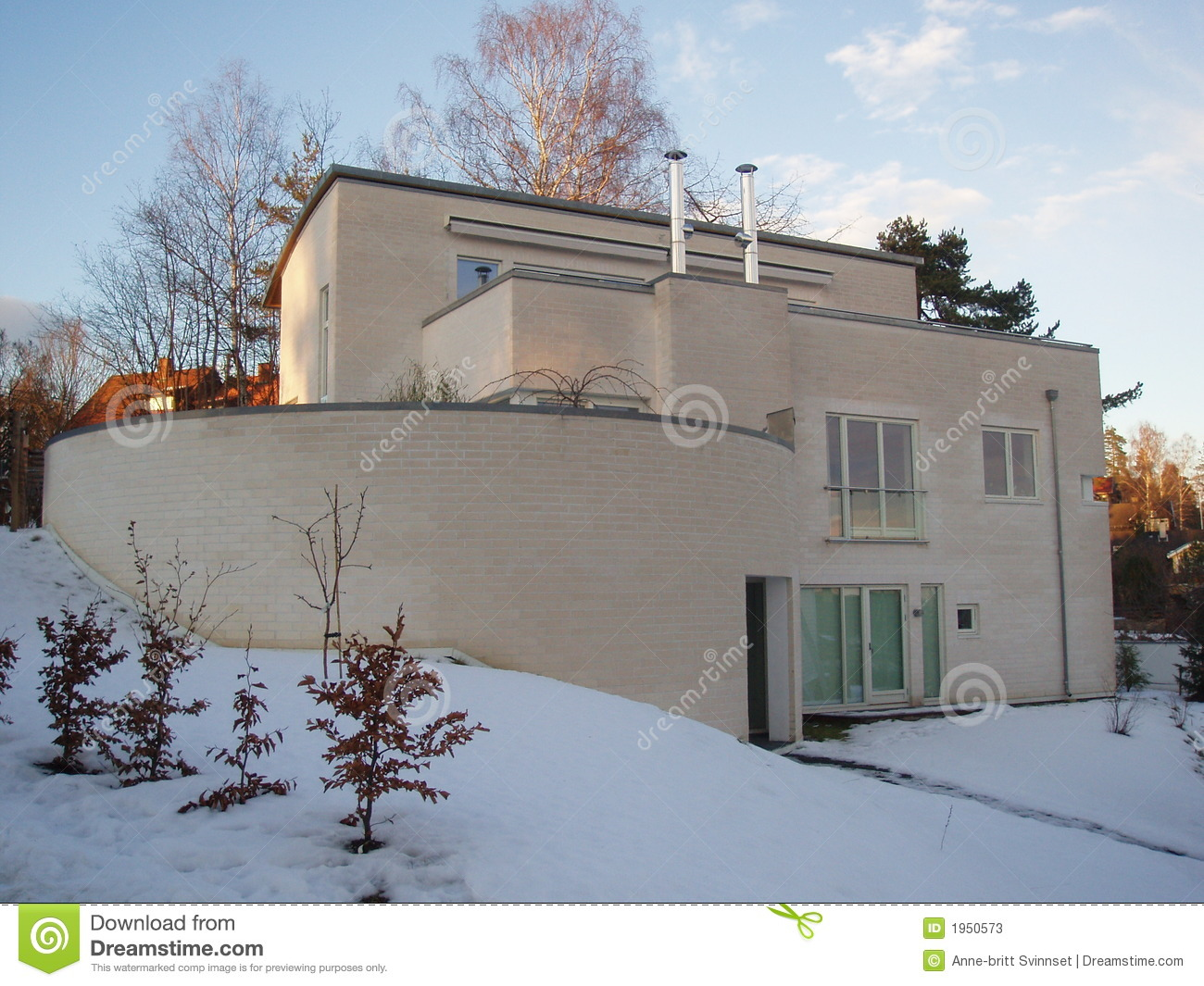 Modern house stock image image of modern dwelling for Funkis house