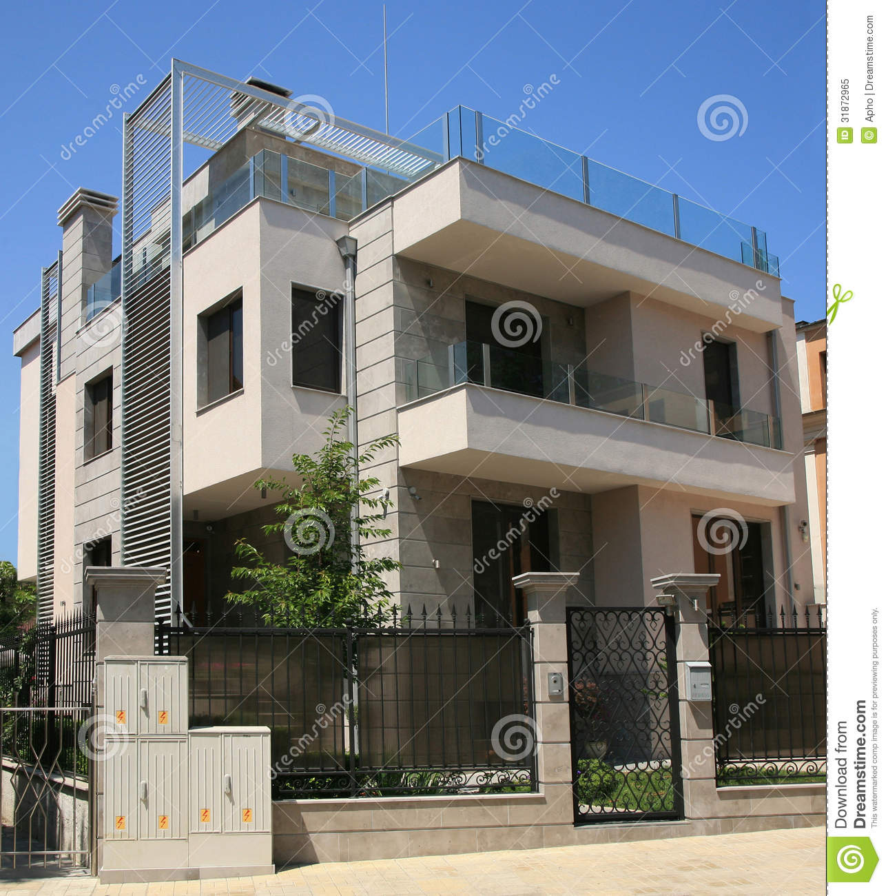 Modern house royalty free stock photo image 31872965 for Outer look of house design