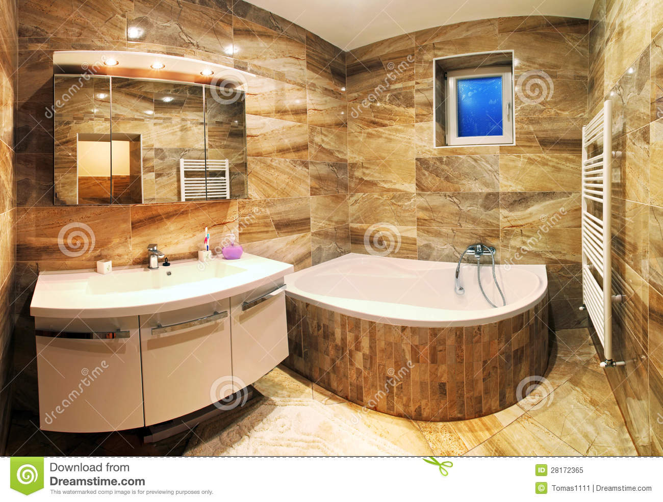 Modern house bathroom interior stock image image 28172365 for Interni casa moderna