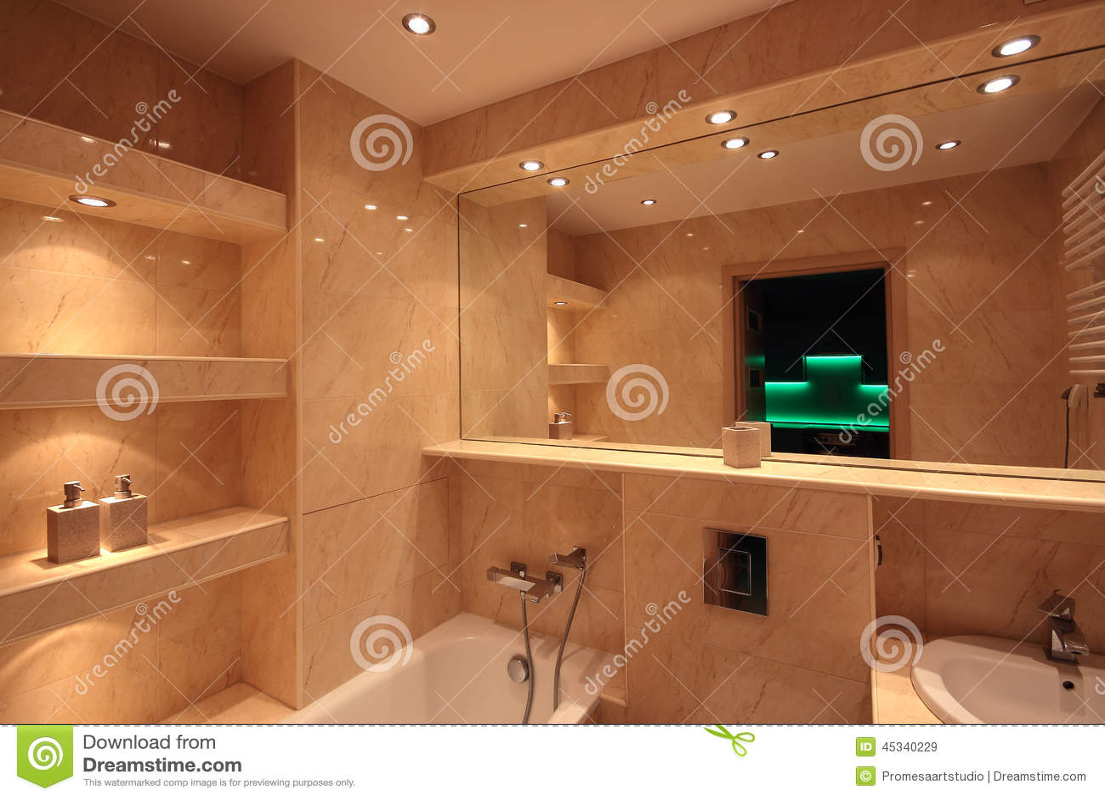 Modern house bathroom interior stock image image of douche