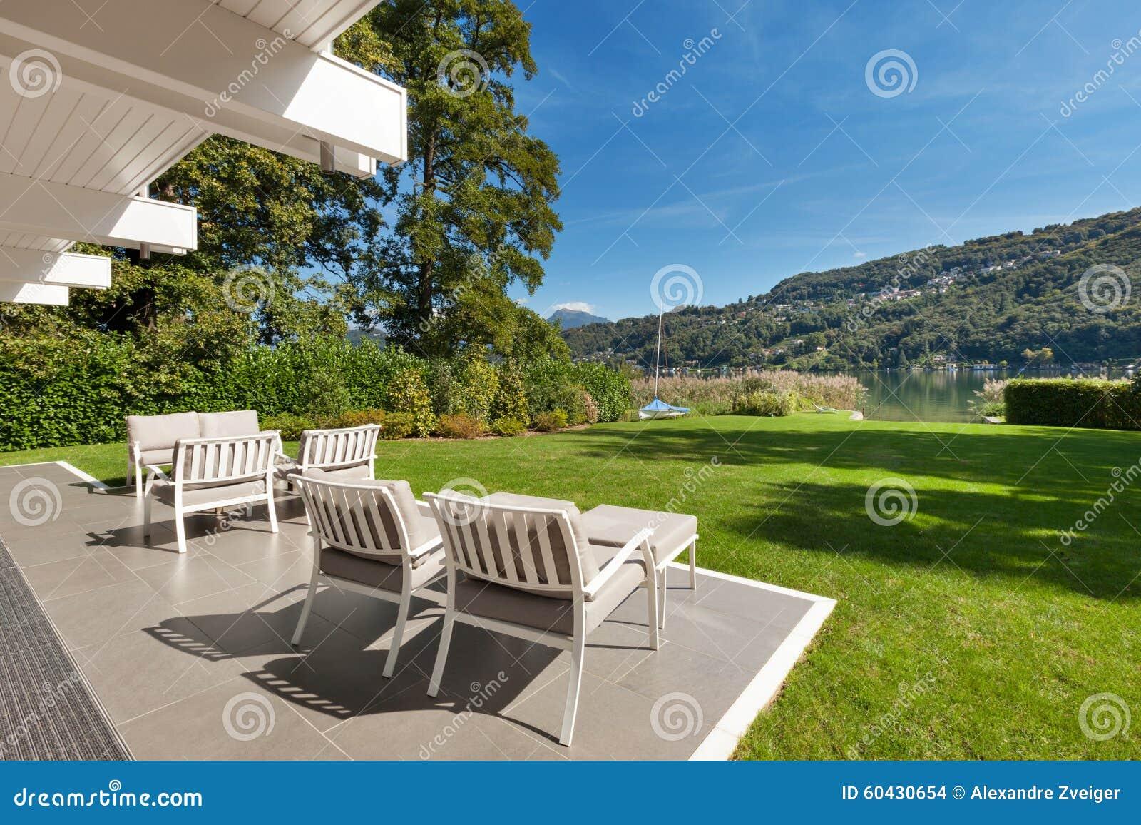 Modern House Beautiful Veranda Stock Photo Image 60430654