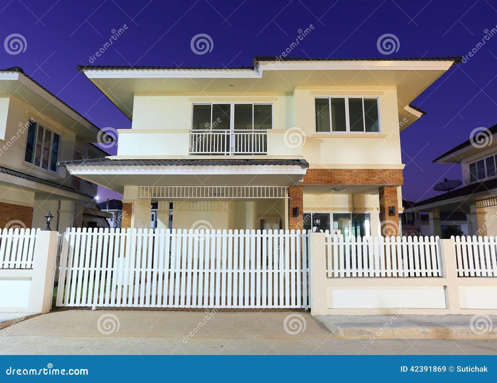 Modern house stock photo image 42391869 for Blue modern house