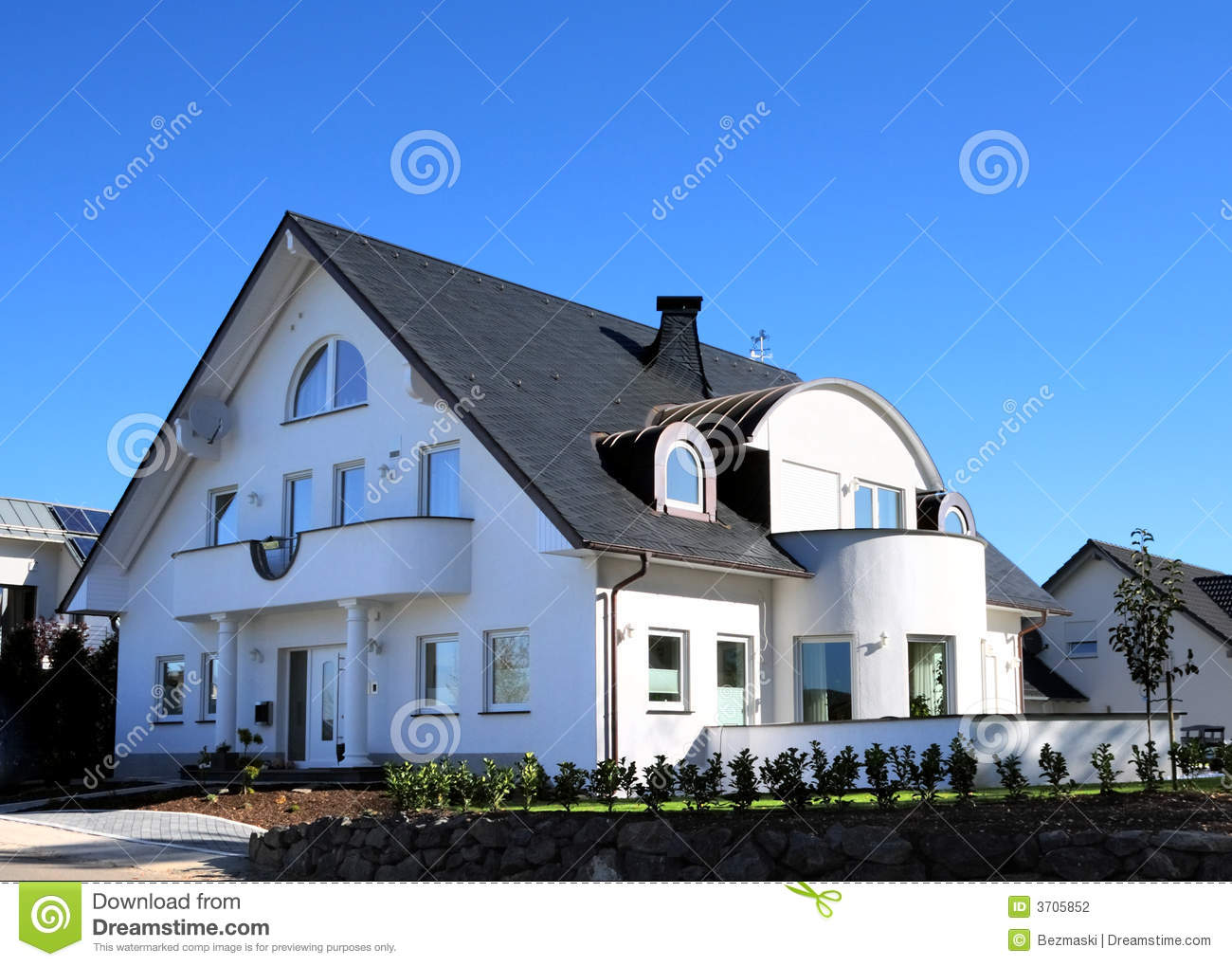 A house and the sky stock photo 67847244 for Blue modern house
