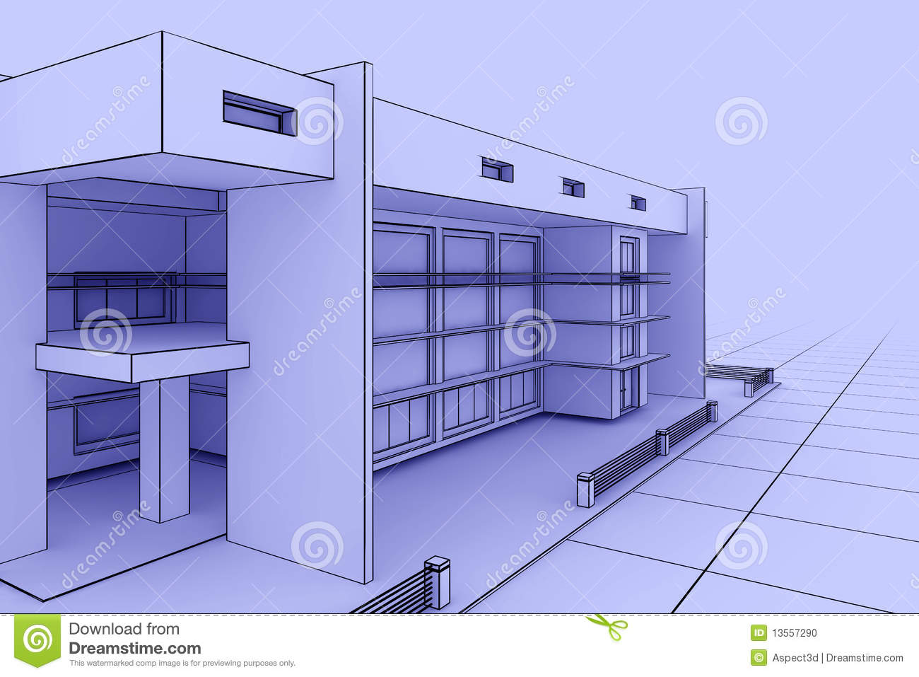 Modern house blueprint stock illustration image of design for Blue print homes