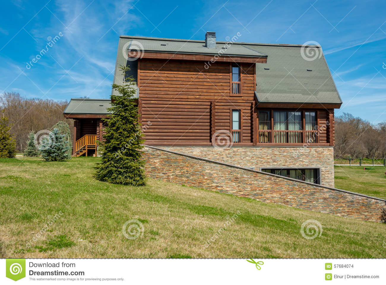 Modern house in bright summer day stock photo image for Modern day houses