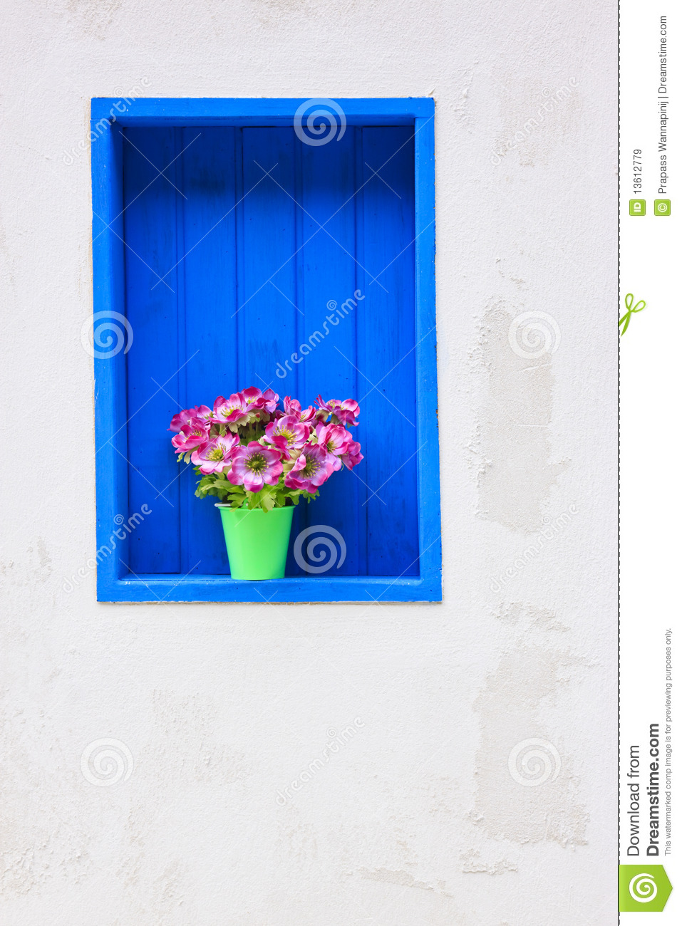 Modern house with colorful blue window royalty free stock for Blue modern house