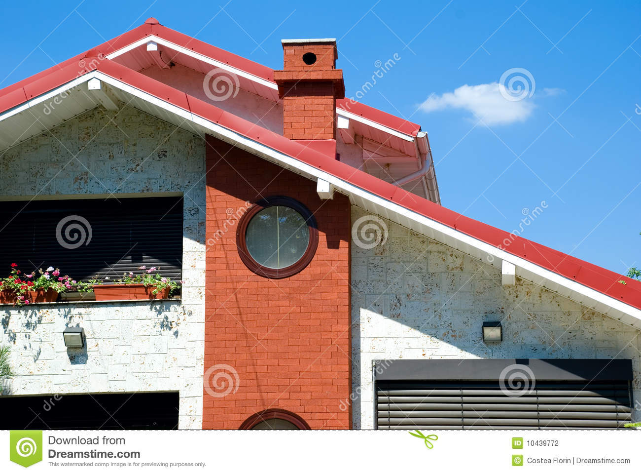 Modern house details stock photo image of dwelling for Modern house details
