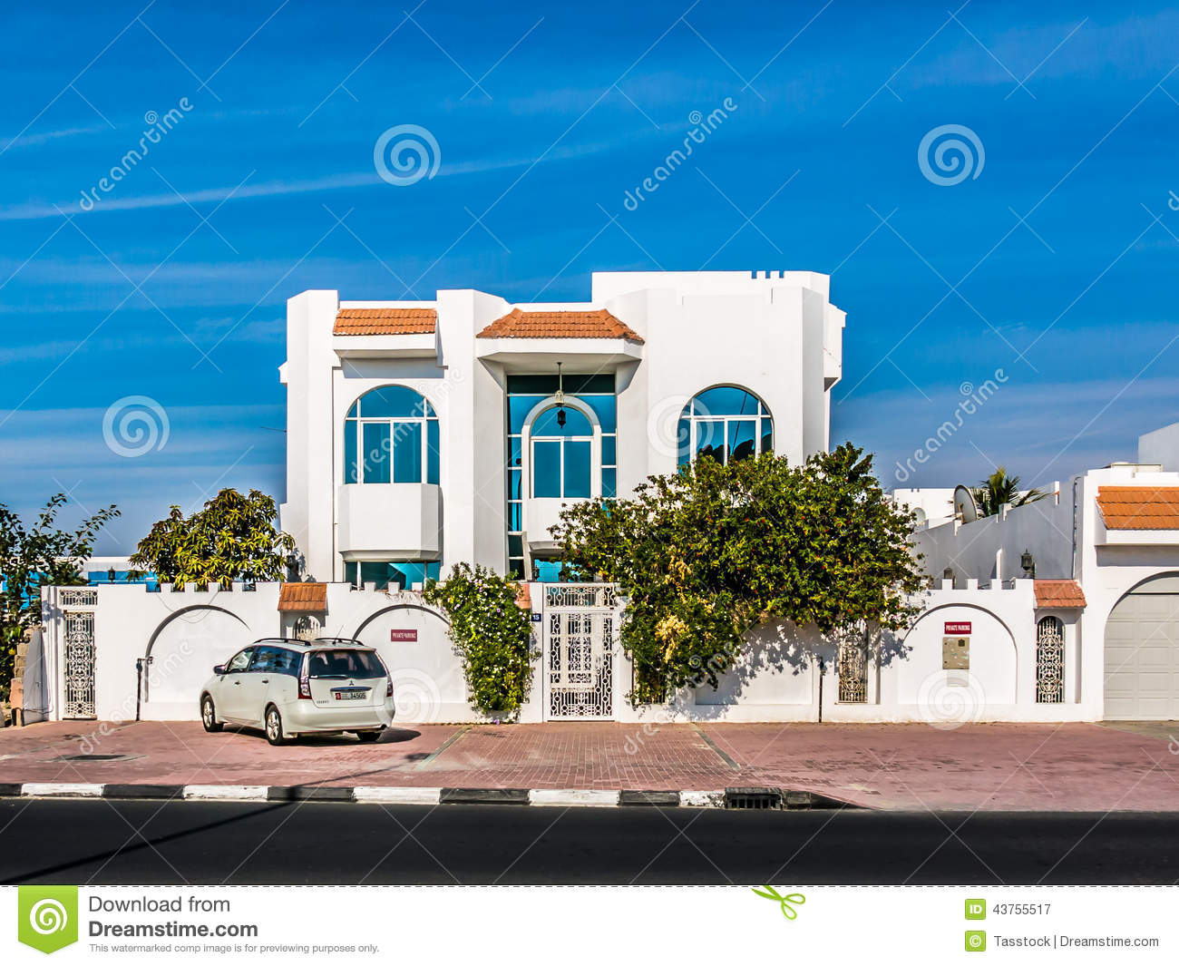 Modern house in dubai editorial photography image of for Modern house uae