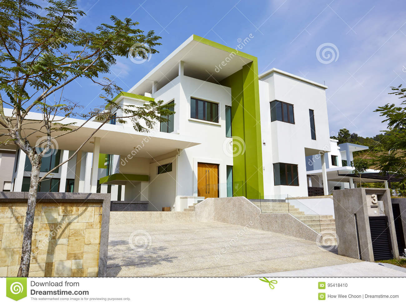 Modern House Exterior Stock Photo Image Of Penthouse 95418410