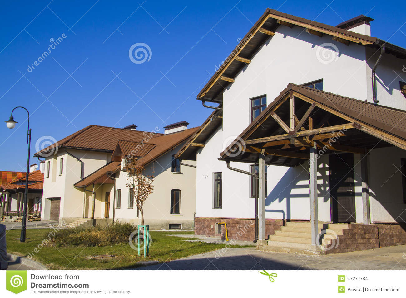 Modern house exterior stock photo image of background for Blue modern house