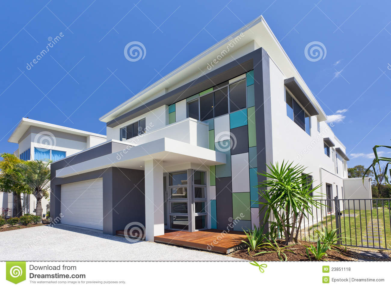 Modern House Front oyalty Free Stock Photos - Image: 23851118 - ^