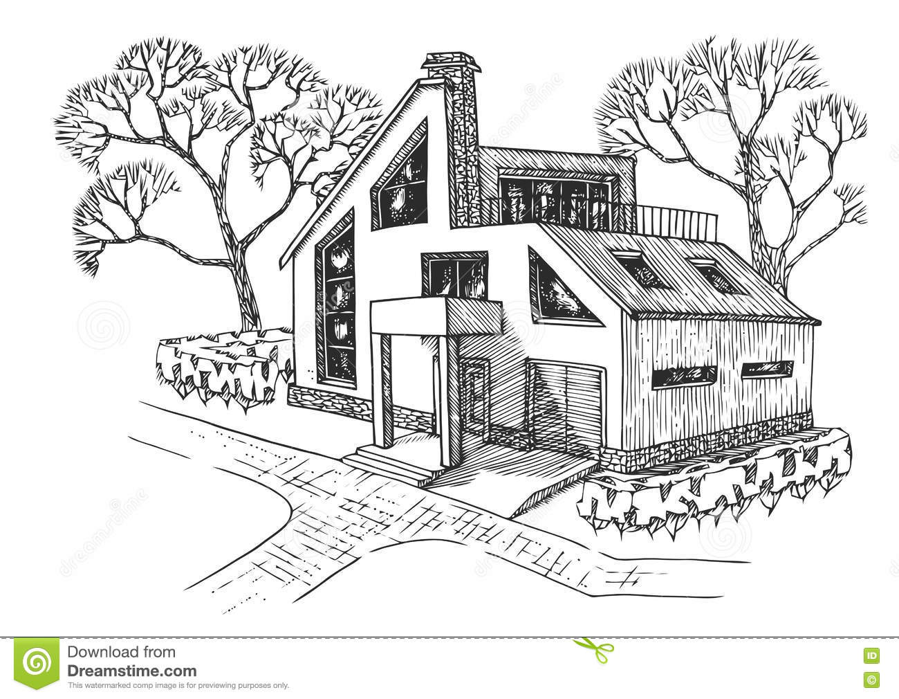 Bungalow House Sketch Design 28 Images Bungalow