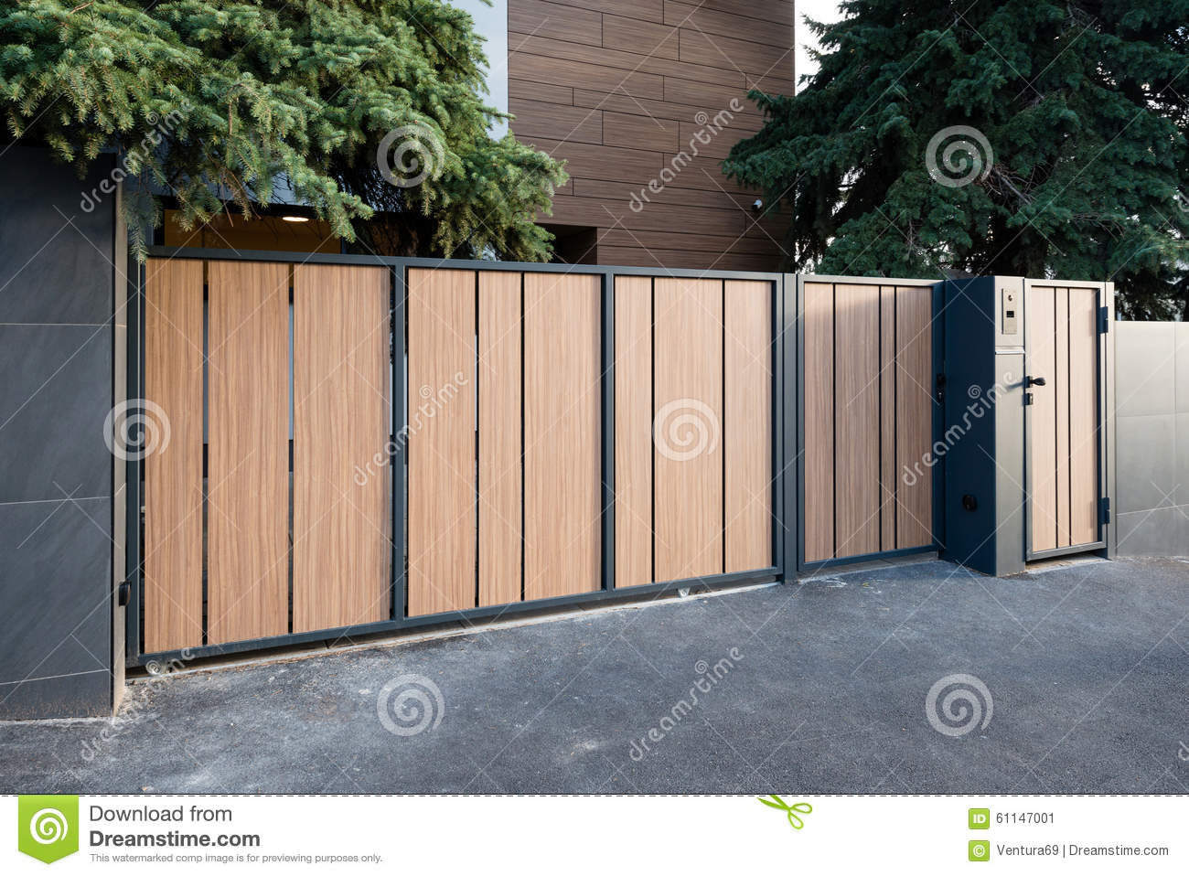 Modern house gate stock image image of luxurious garage for Modern house gate