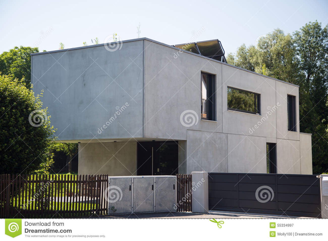 Modern House In Germany Stock Photo Image 55334997