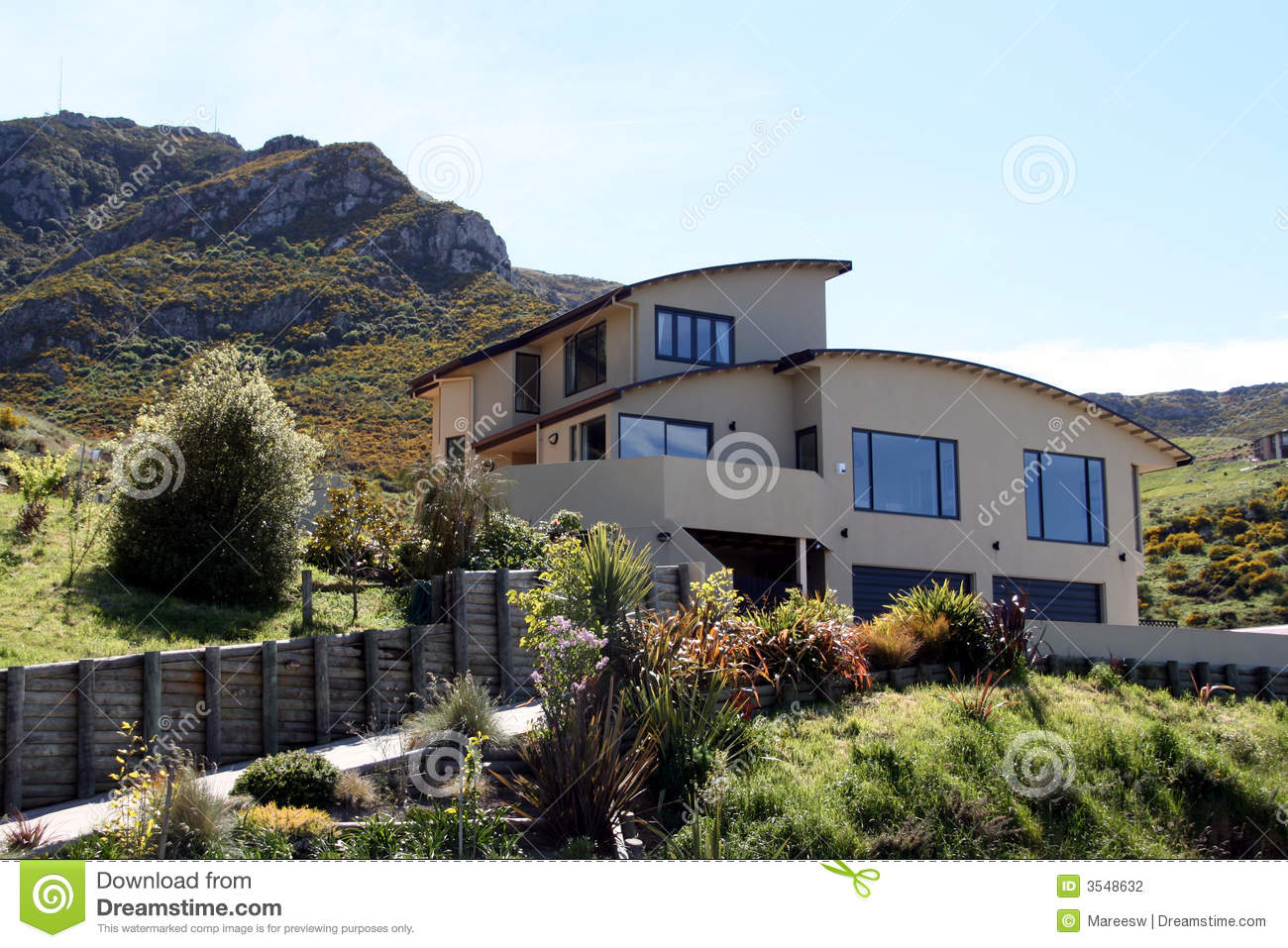 Modern house on the hill stock photography image 3548632 for Modern hill house designs