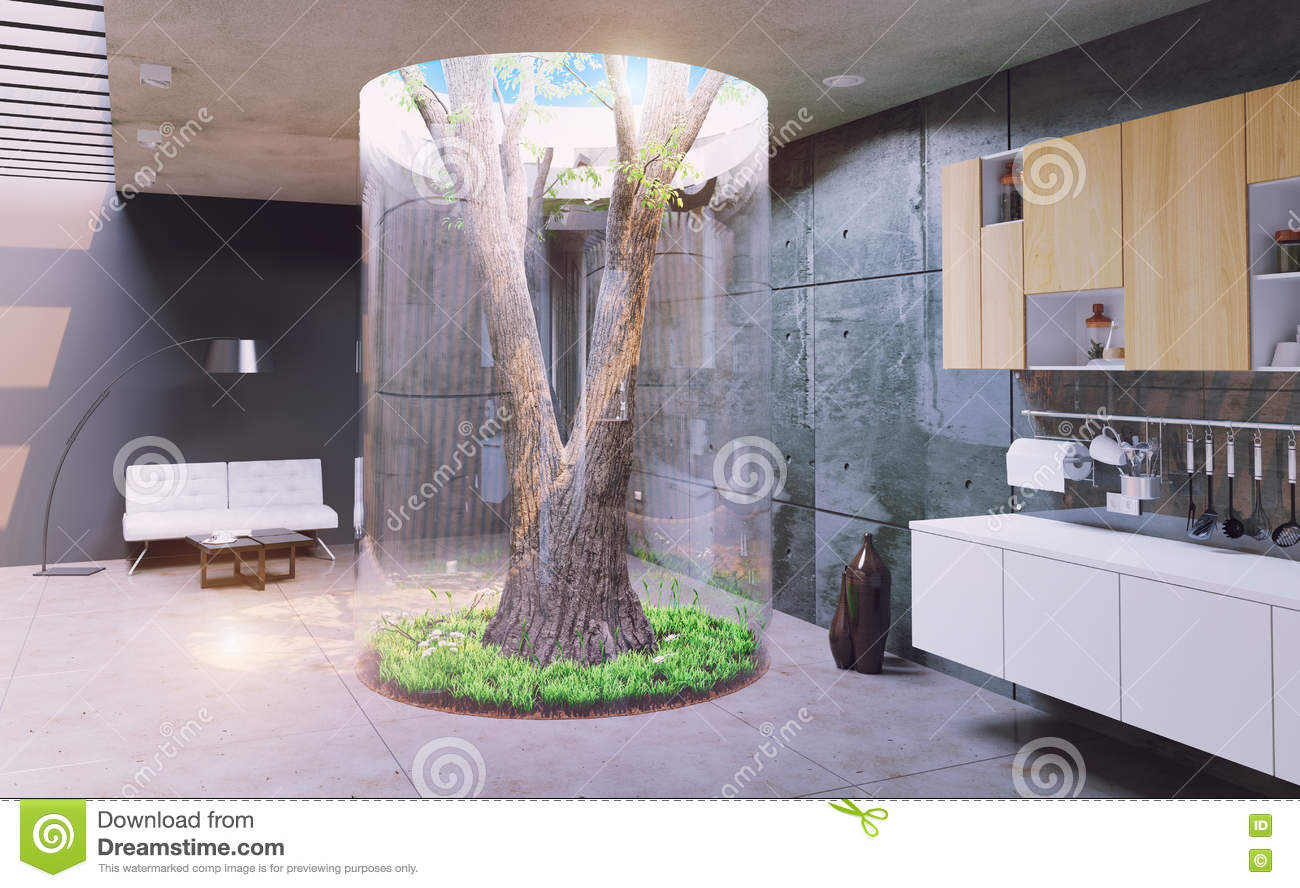 Modern House Interior Stock Illustration - Image: 64507970 - ^