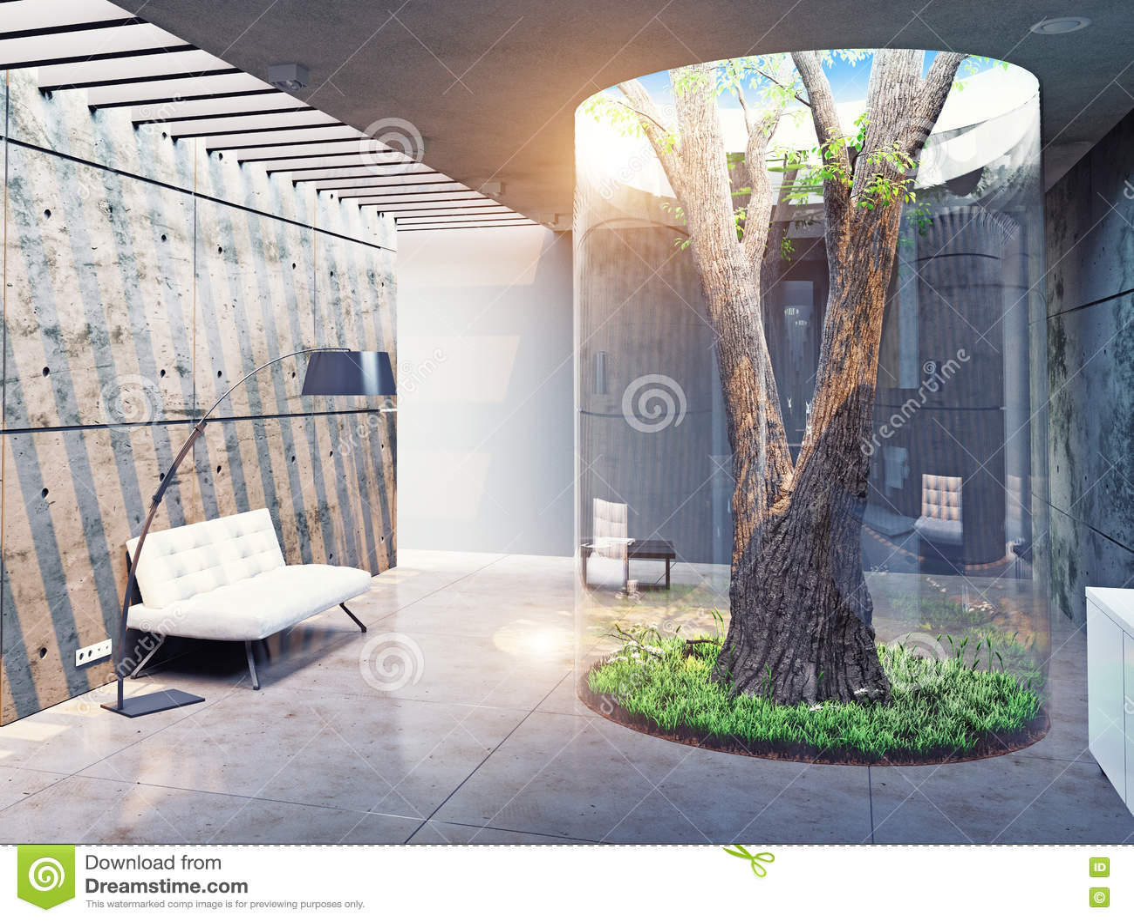 Modern house interior stock illustration image 64507983 for Modern concept interior design house