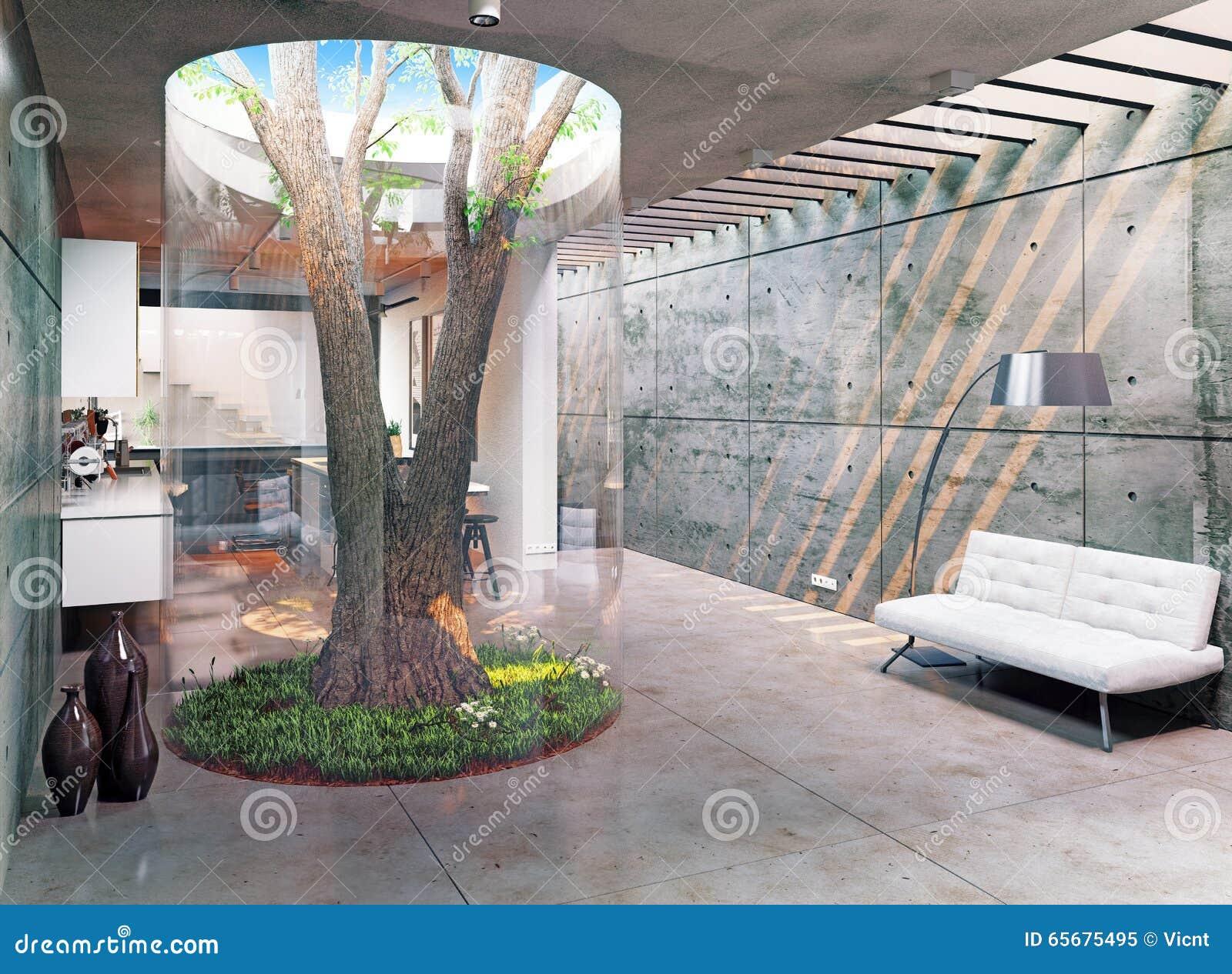 Modern house interior stock illustration image 65675495 for Modern concept interior design house