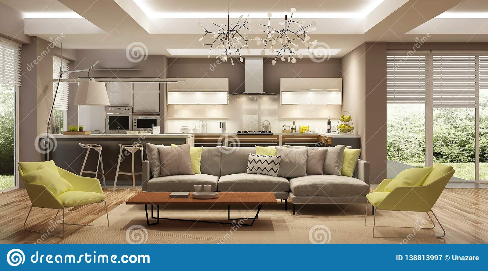 Modern House Interior In Scandinavian Style 3d Rendering Stock Illustration Illustration Of Armchairs Armchair 138813997,Cover Creative Graphic Design Background