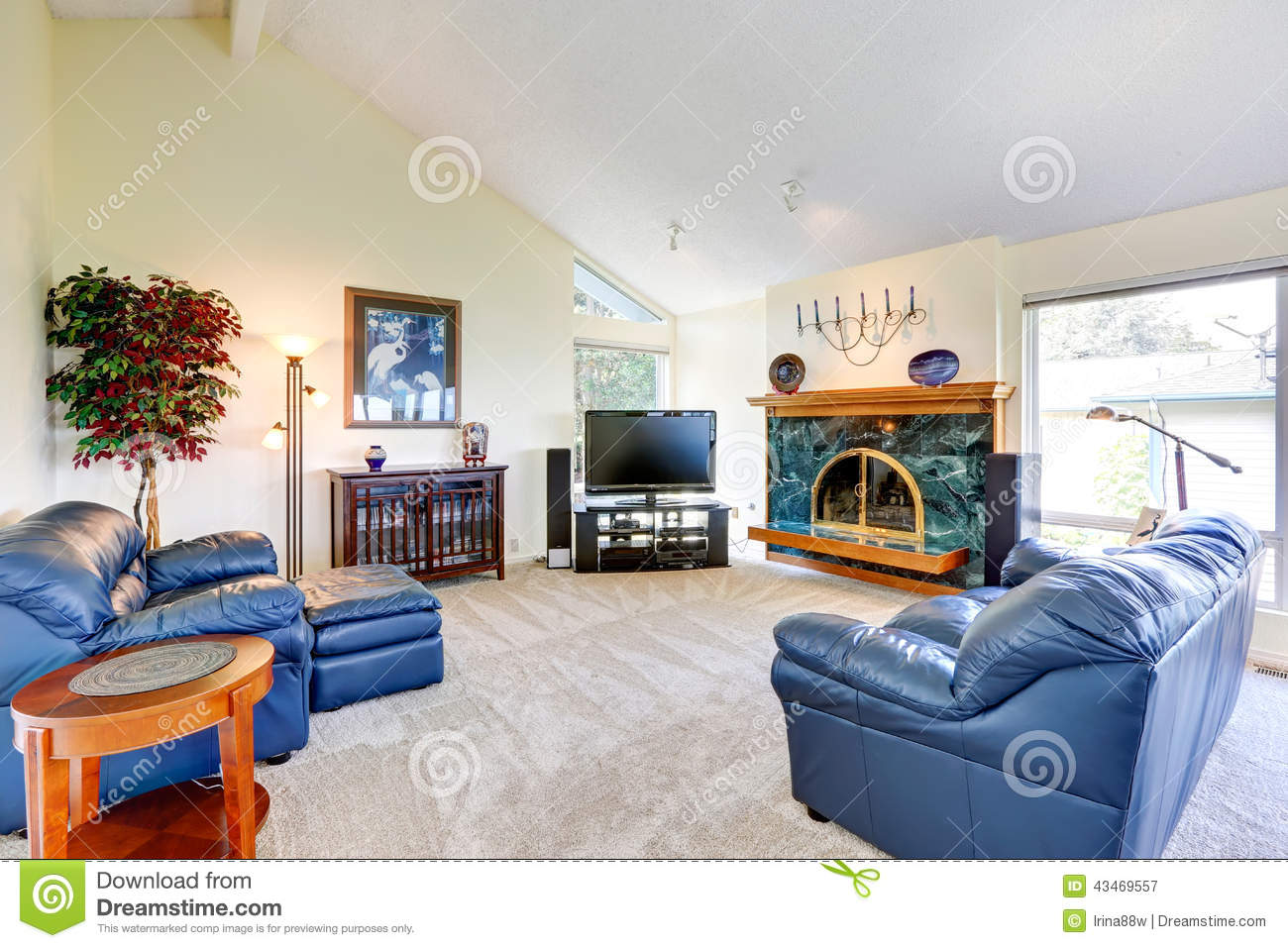 Modern House Interior Stock Image Image Of Entertainment