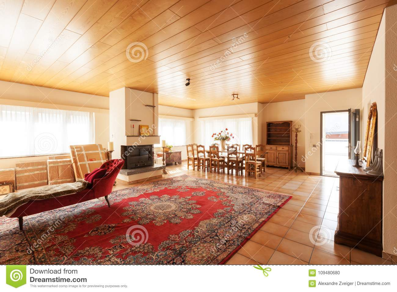 Modern House Interior Living Room Stock Photo Image Of Indoors