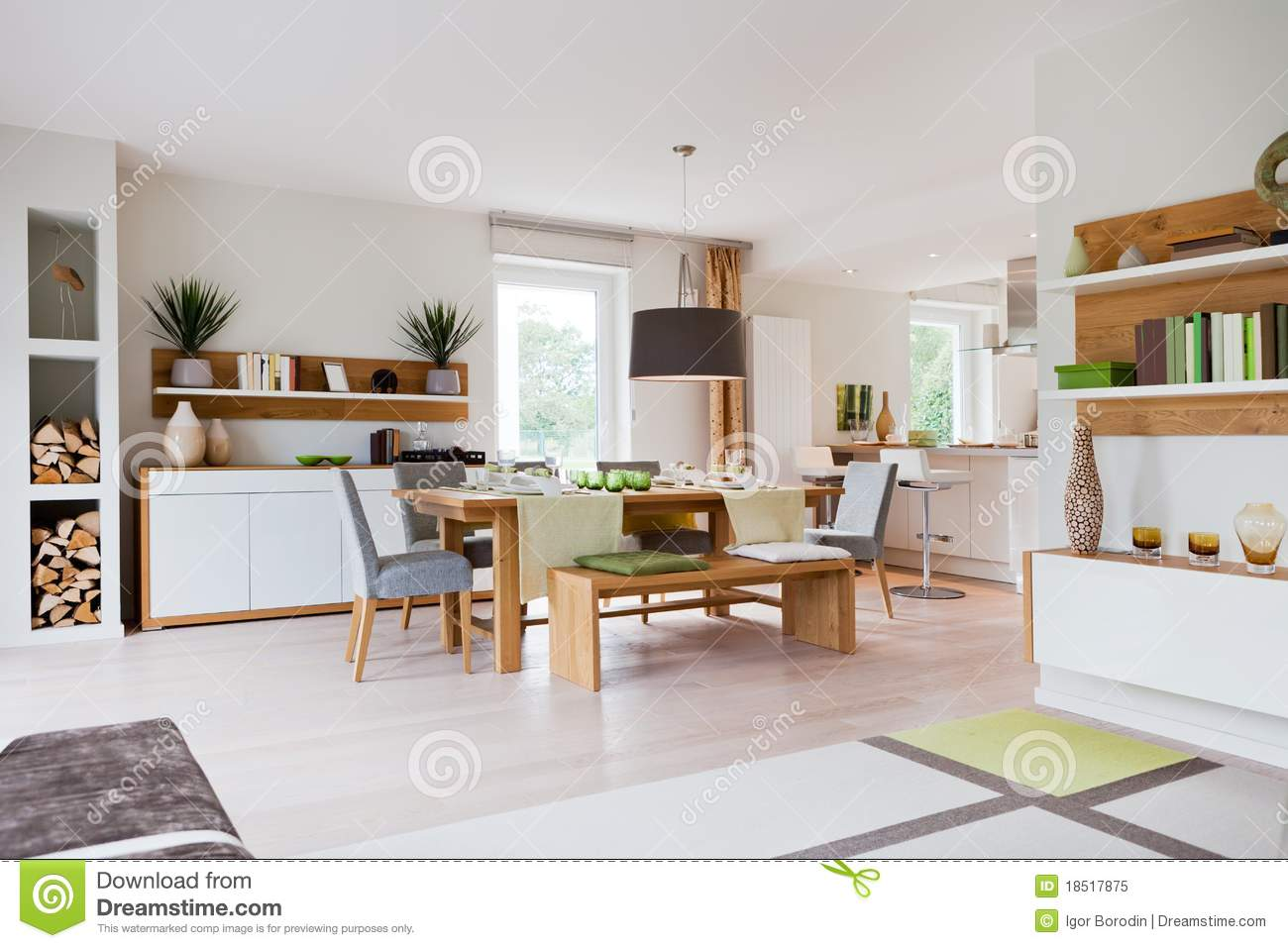 Modern house living room stock image image of living for Modern house living room