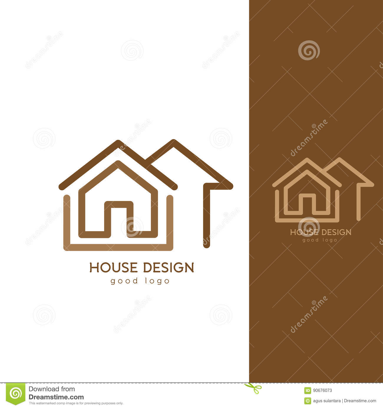 Modern house logo design template flat simple stock vector for Minimalist house logo