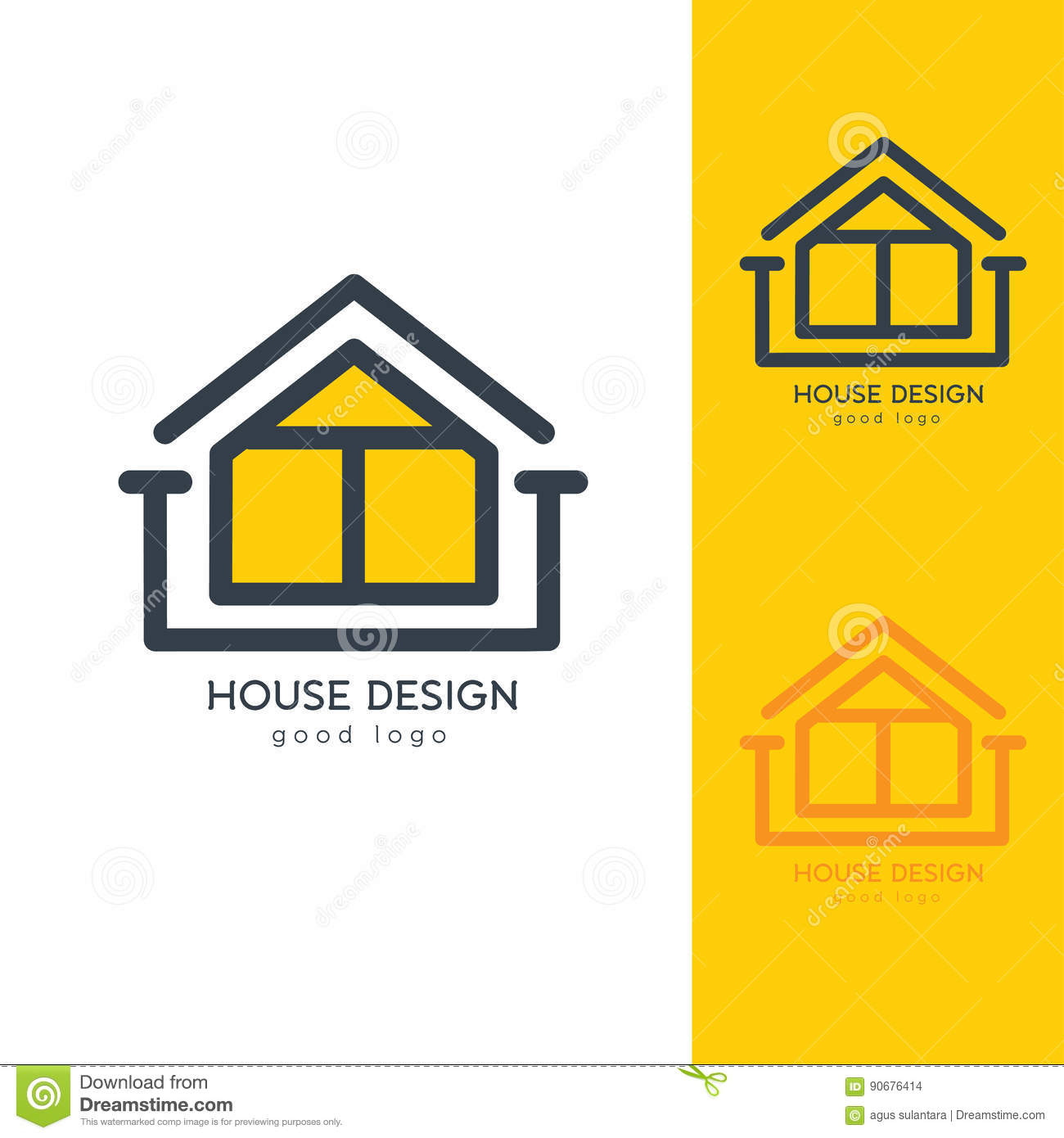 download modern house logo design template flat simple stock vector illustration of colorful modern