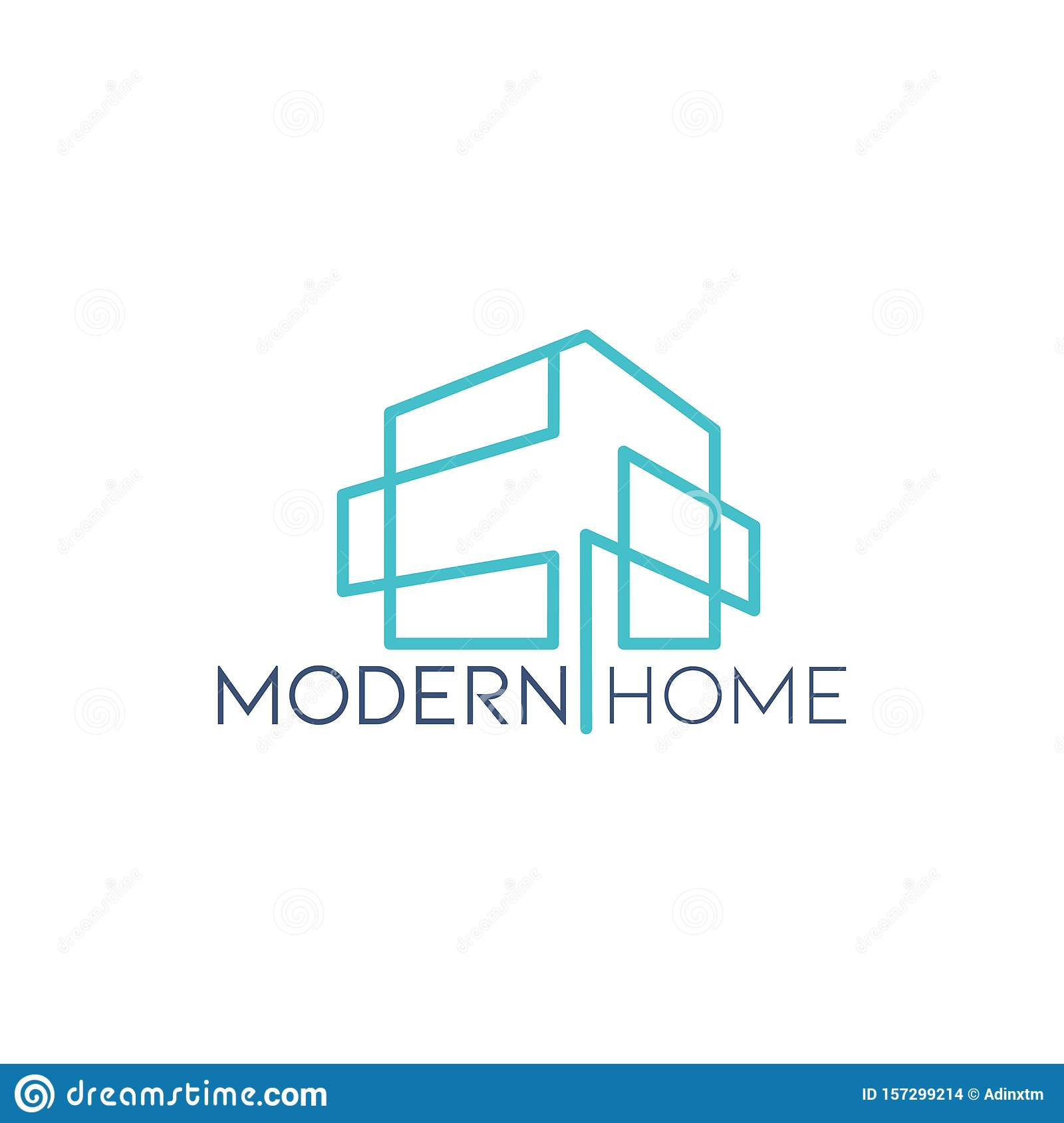 Modern House Minimal Of Building Logo Icon Vector Template