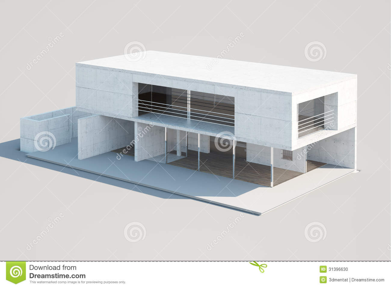 Modern house mock up stock illustration illustration of for Hausmodelle modern