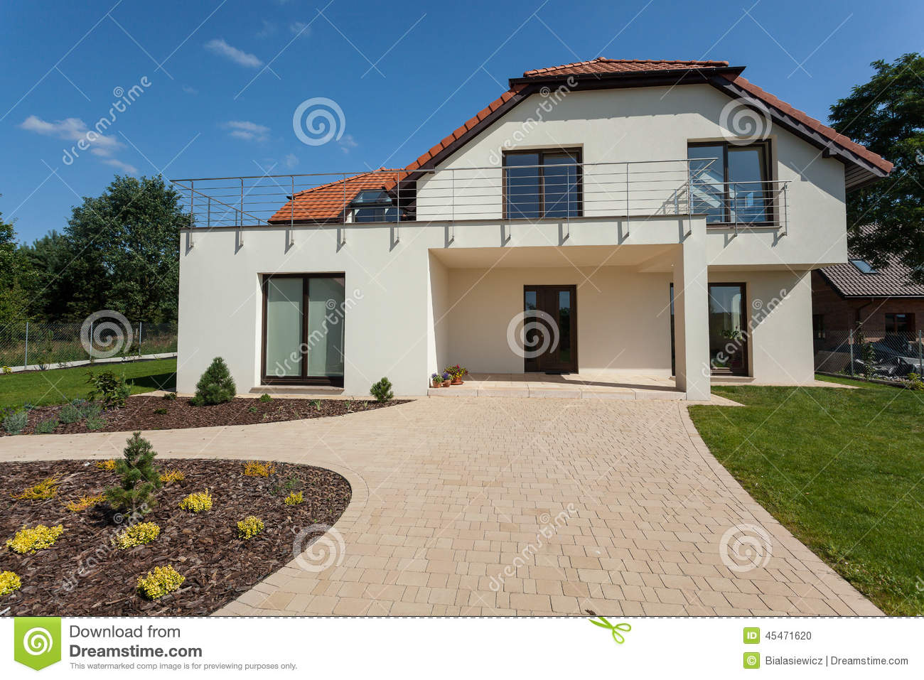 modern house from the outside stock photo image 45471620