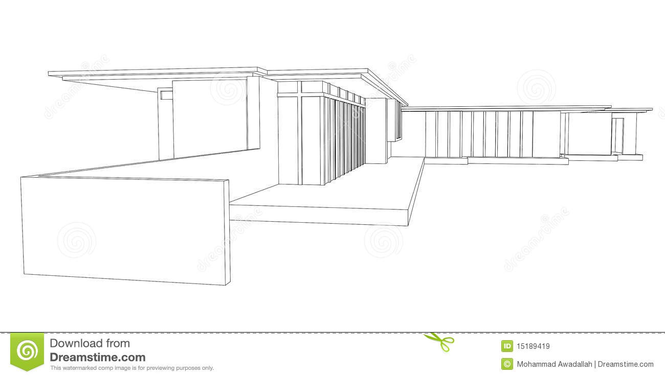 Modern House Perspective Drawing oyalty Free Stock Images - Image ... - ^