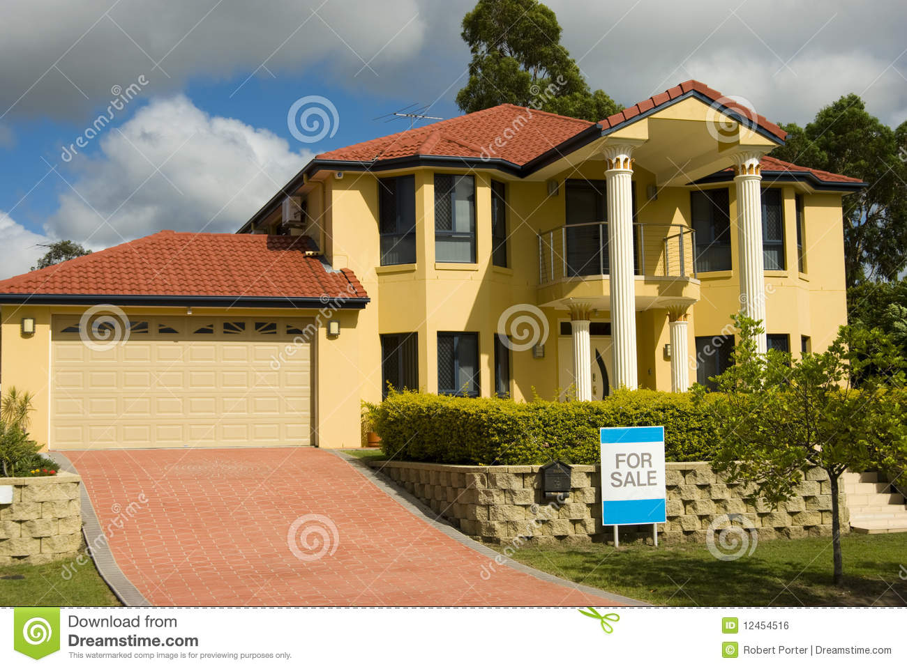 Modern house for sale royalty free stock image image 12454516 for Modern house auction