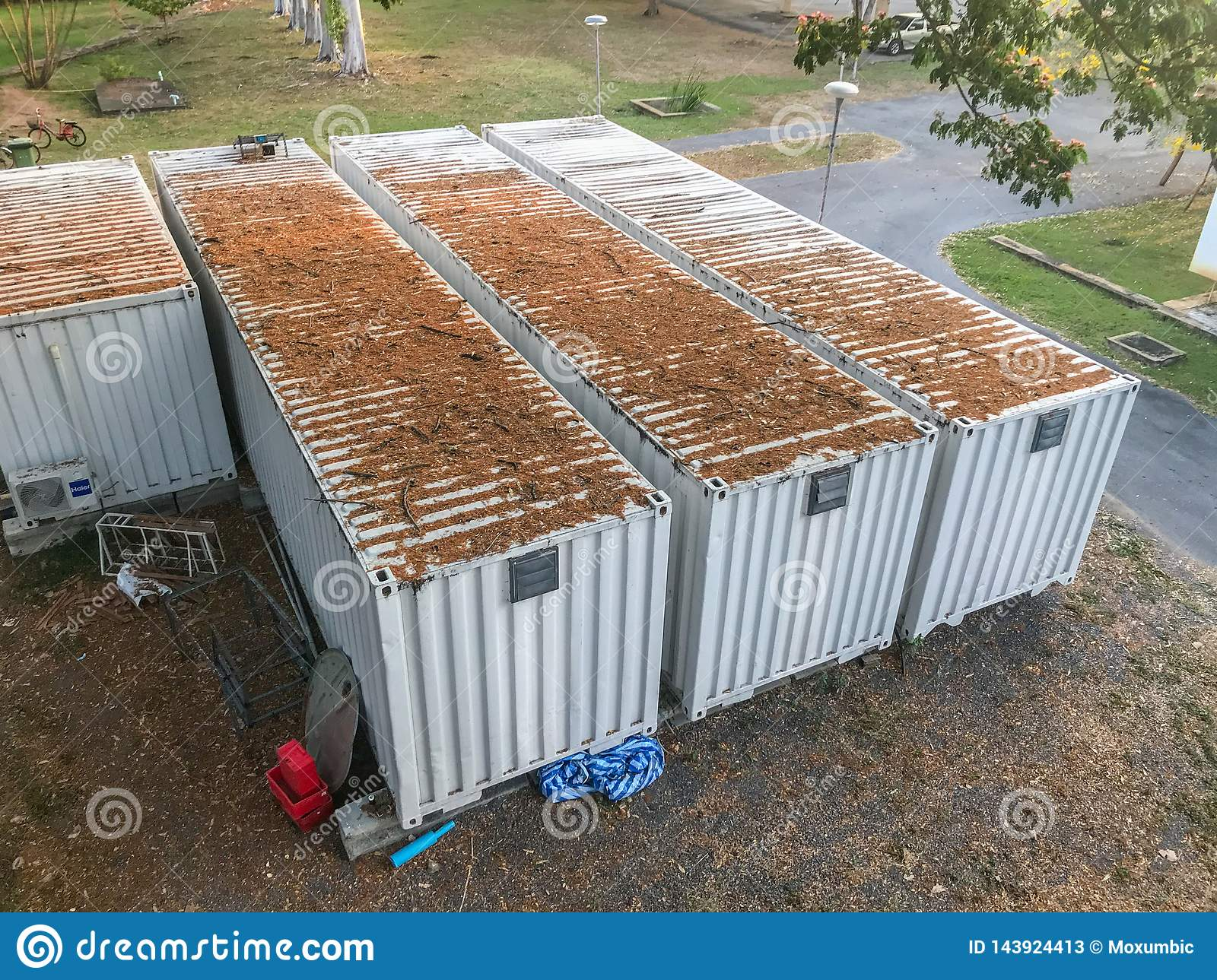 Modern Shipping Container Home modern house, shipping container house stock image - image