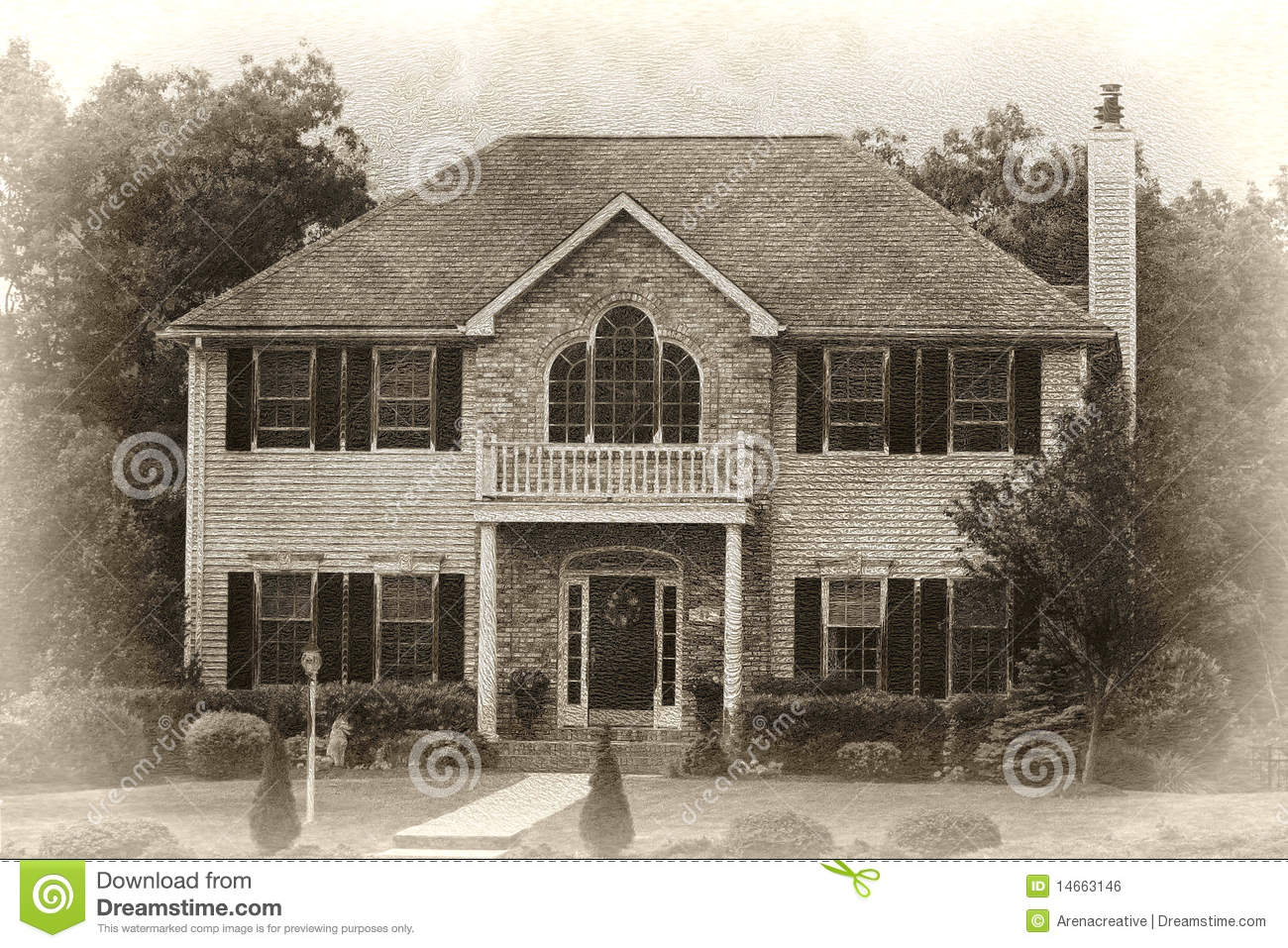 Modern House Sketch Stock Illustration - Image: 40675882 - ^