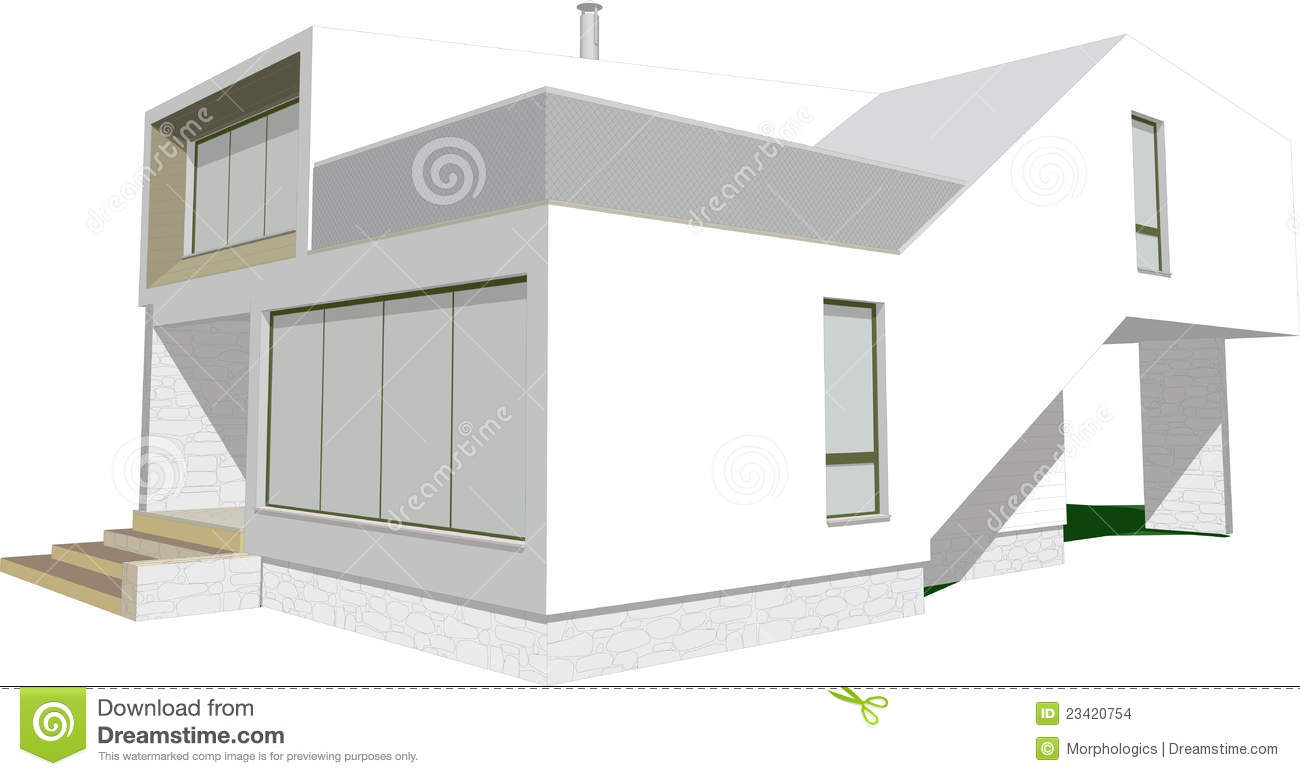 Modern house sketch vector stock images image 23420754 for Modern house sketch