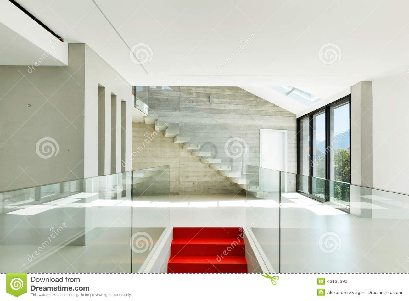 House interior modern architecture staircase view