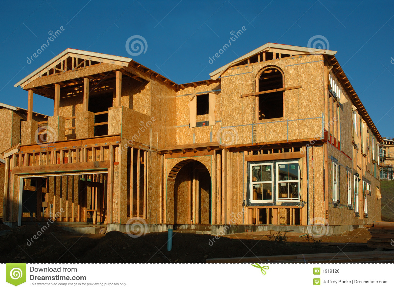 Modern house under construction royalty free stock image Contemporary home construction