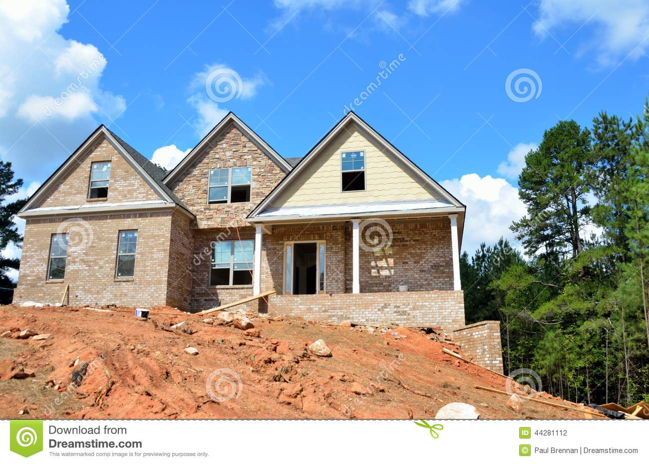 Modern house under construction stock photo image 44281112 for House building website