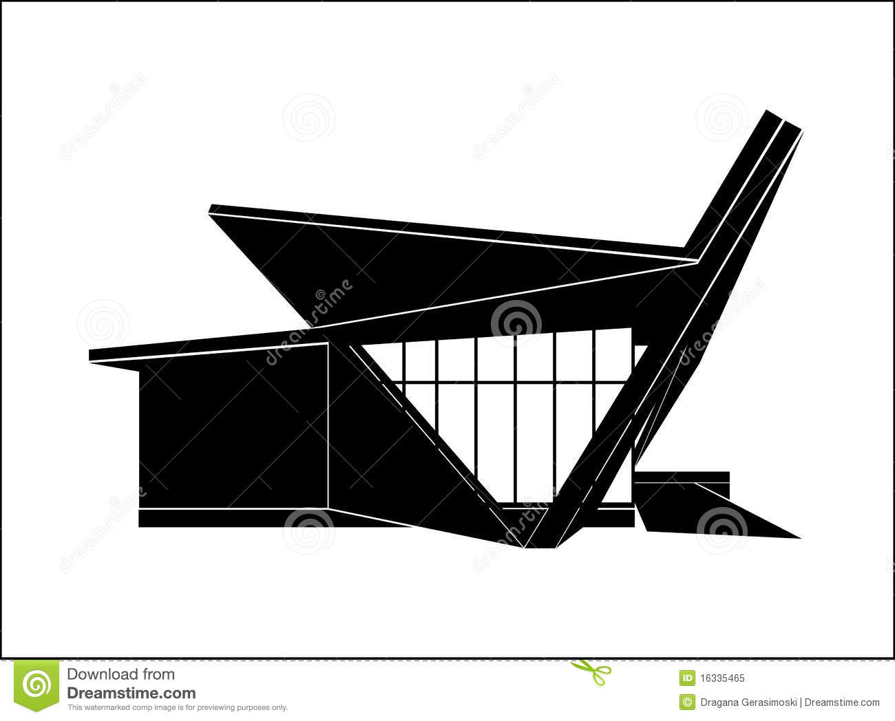 Modern House, Vector oyalty Free Stock Photo - Image: 16335465 - ^