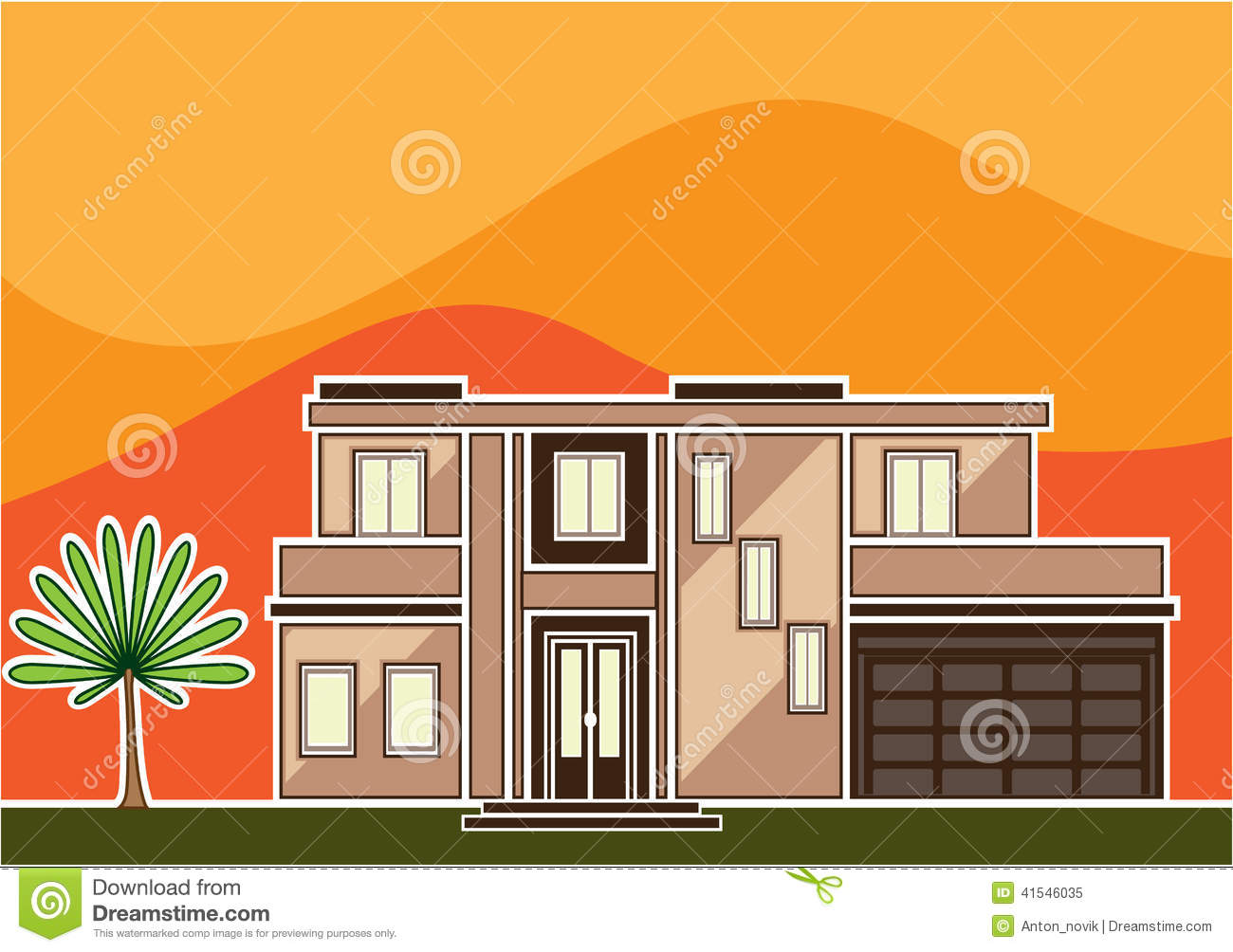 Modern House Stock Vector Image 41546035